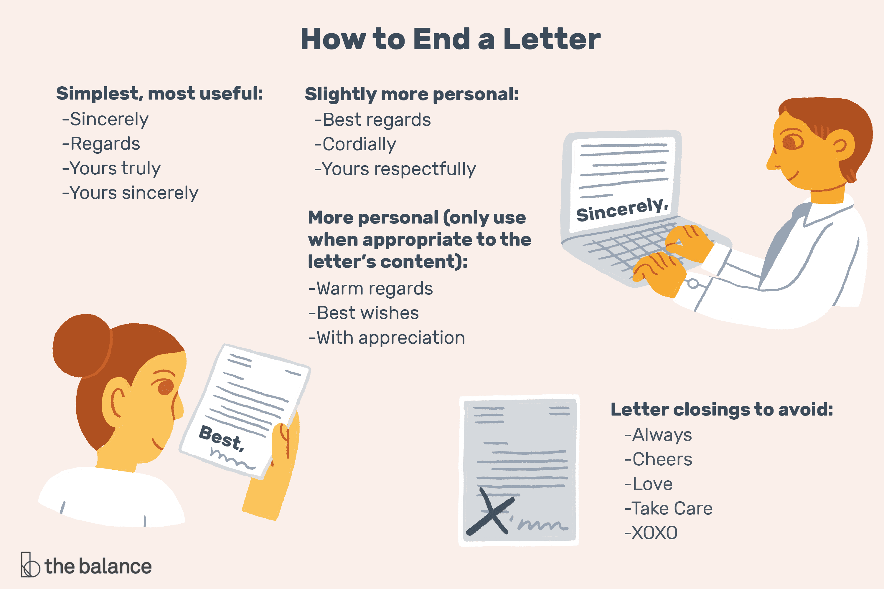 Ways To Sign Off On A Letter from www.thebalancecareers.com