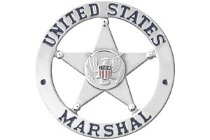 United States Marshal Silver Badge