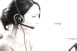 Home call center woman