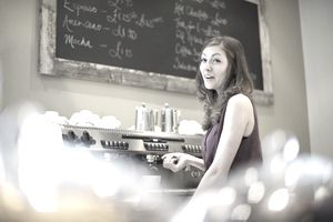 An Ohio teenage barista working in a coffee shop