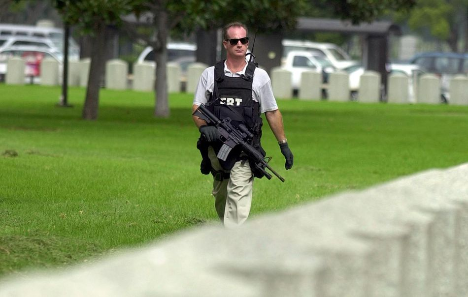 An FBI agent in the field