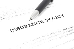 Insurance Policy with Pen