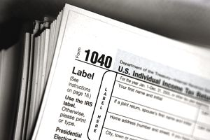 1040 Tax Return form