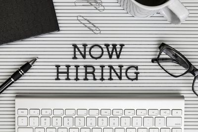 Now hiring and keyboard