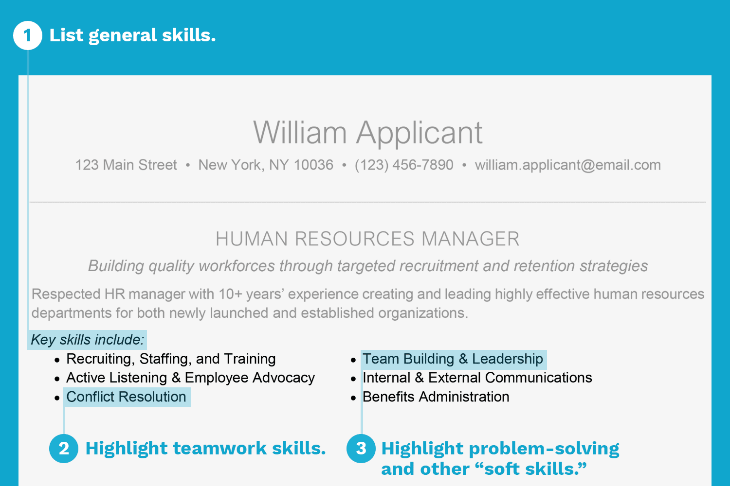 Screenshot Of A Resume With Skills Listed