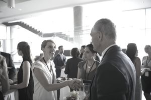 Business people handshaking and networking