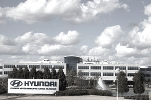 Exterior of Hyundai manufacturing plant in Alabama