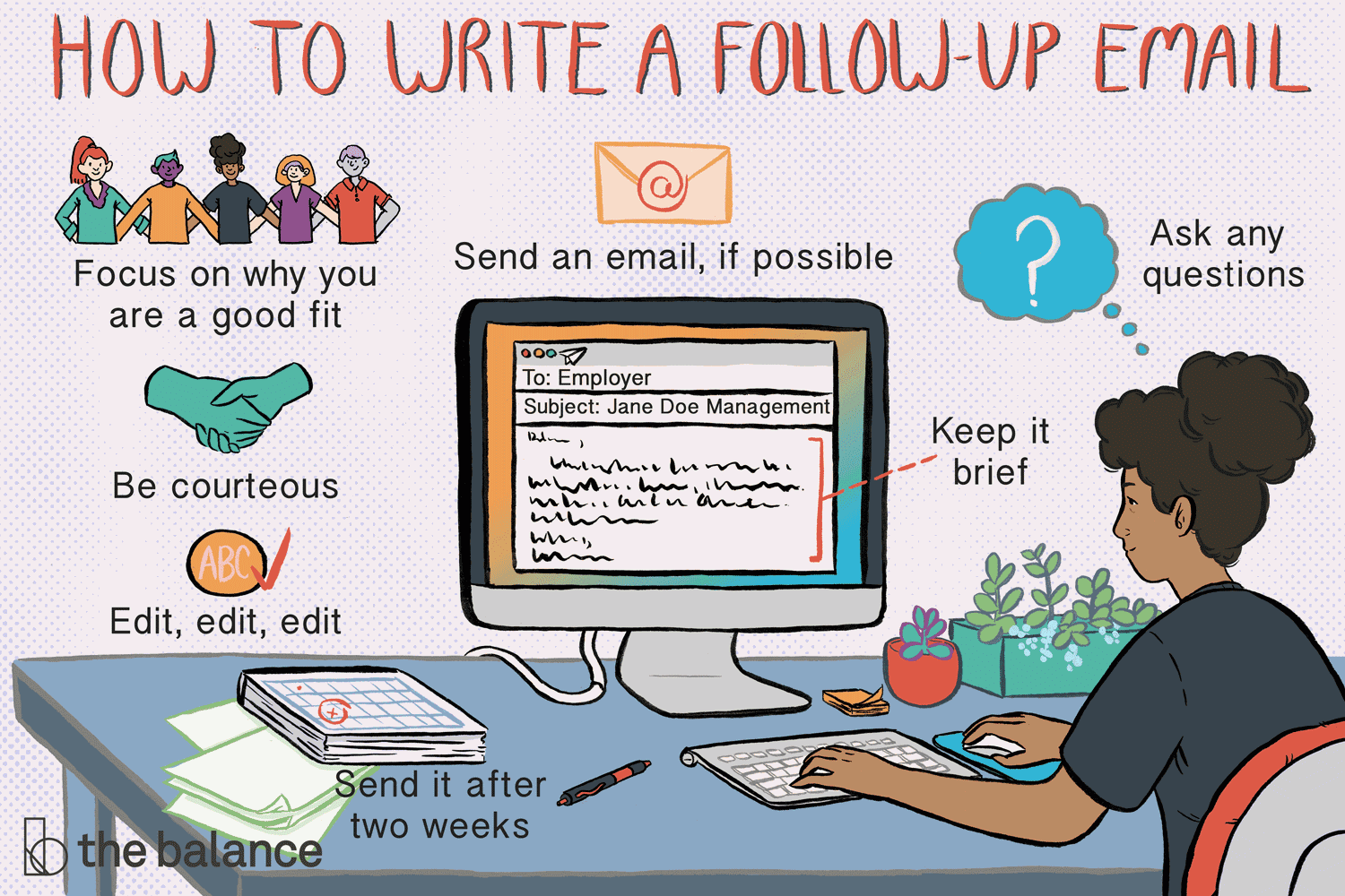 how to write a follow