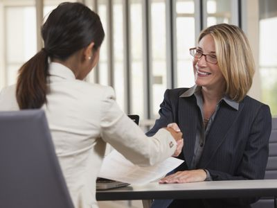Two business associates shaking hands