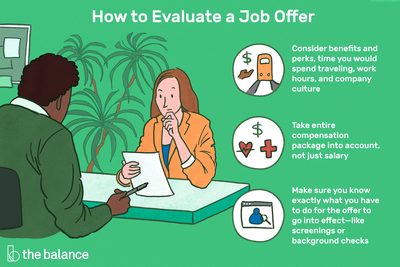This illustration shows how to evaluate a job offer including