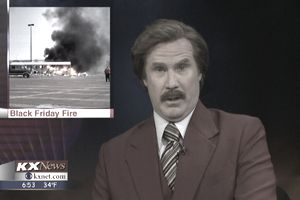 Ron Burgundy news anchor