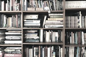 Books In Shelves at a bookstore