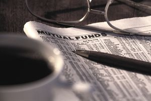 Newspaper showing Mutual Funds activity