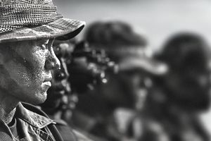 Profile of solider, USA