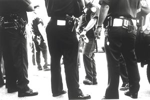Police officers standing