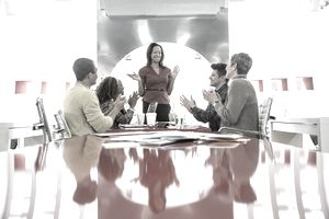 Business People Talking in Meeting