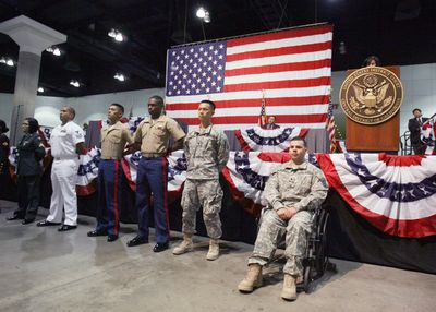 Members of the Armed Forces Become Citizens
