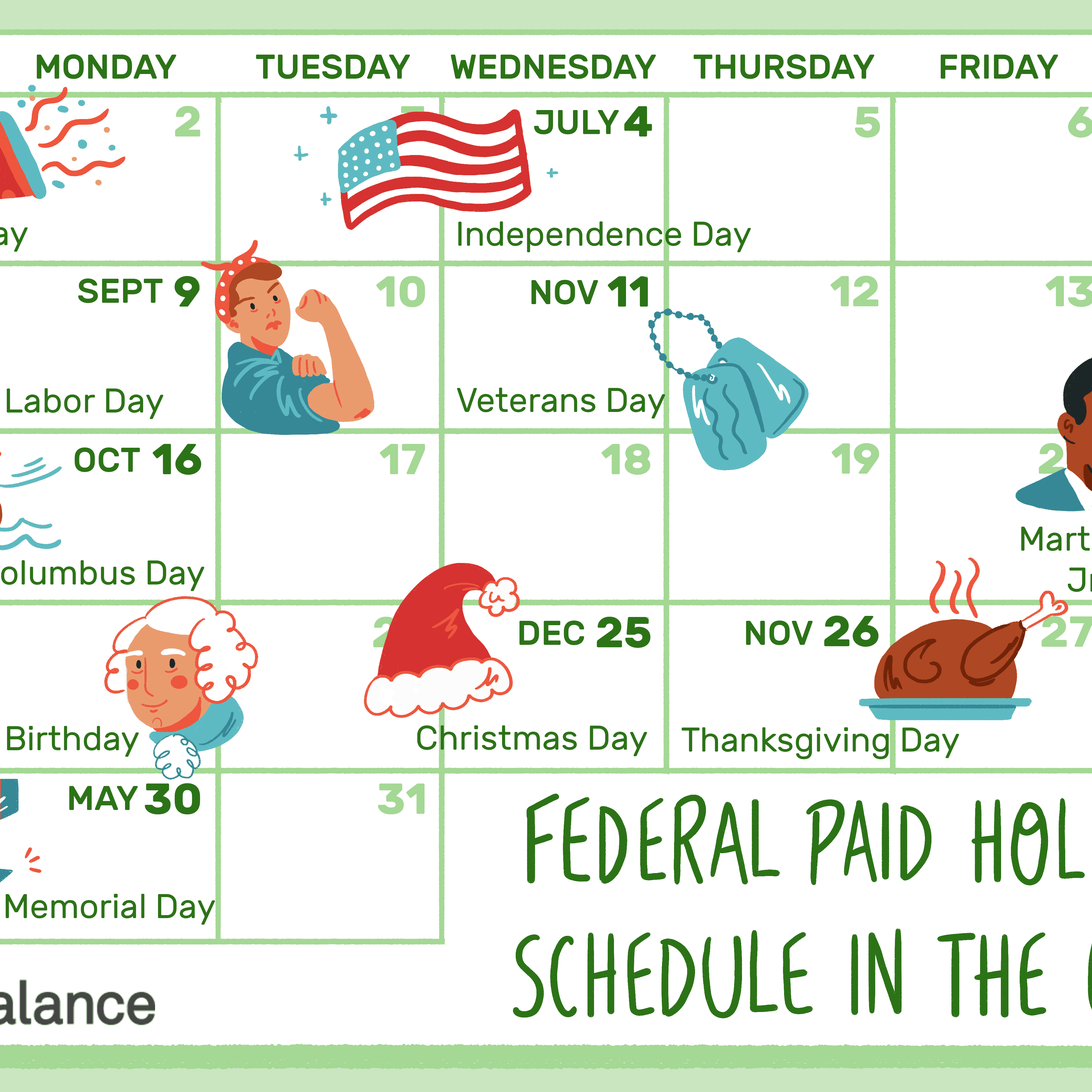 What's a Typical Paid Holiday Schedule
