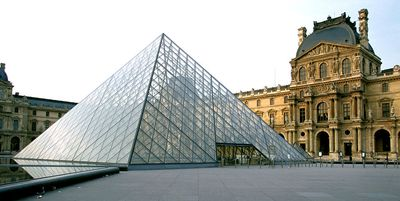 Glass pyramid of the Louvre in Paris
