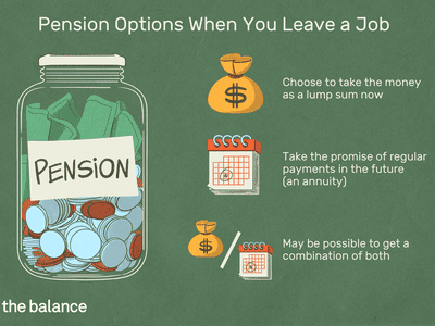 This illustration includes pension options when you leave a job including