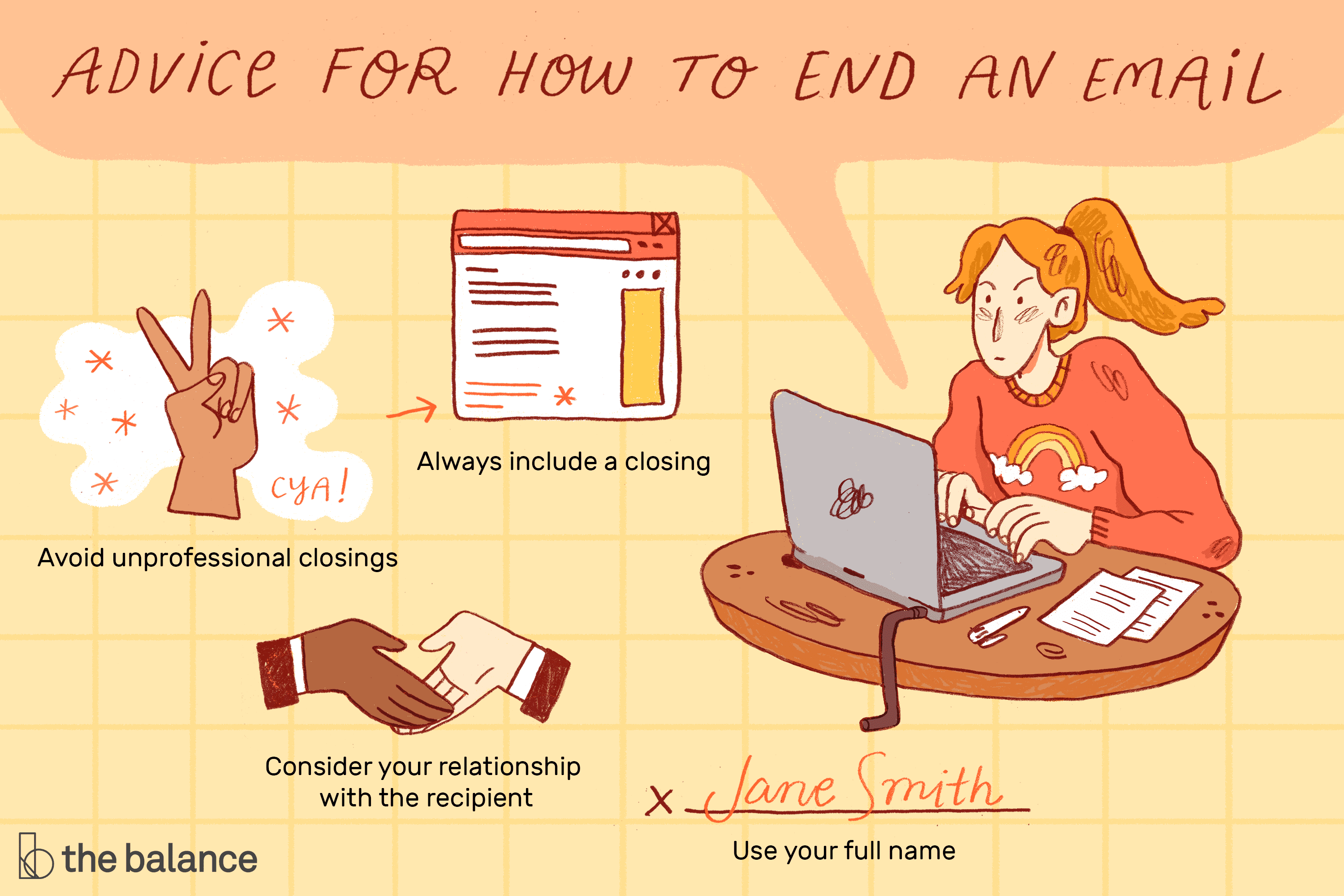 How To End An Email Message With Closing Examples
