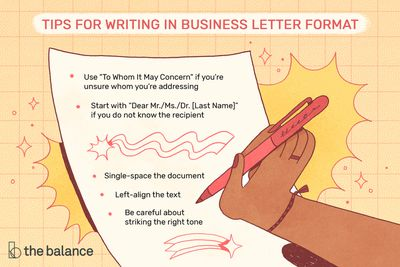 Format Of Business Letter from www.thebalancecareers.com
