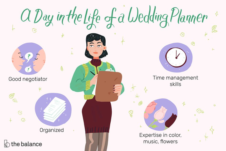 A day in the life of a wedding planner: Good negotiator, organized, time management skills, expertise in color, music, flowers