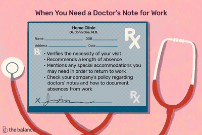 When You Need a Doctor's Note for Missing Work