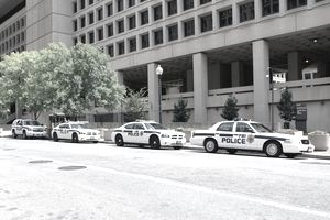 FBI Police Vehicles at Hoover Building