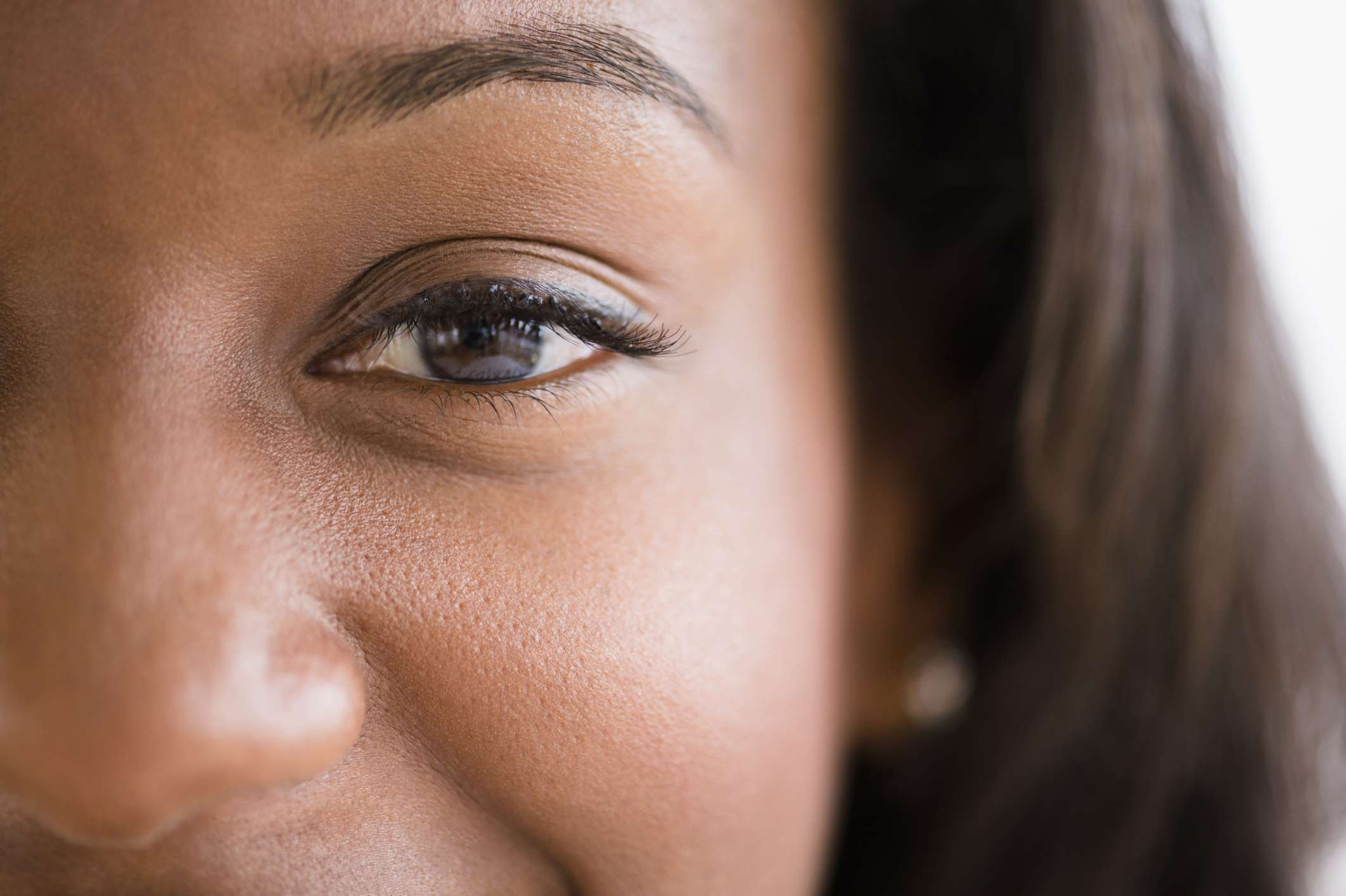 Close up of eyeliner on a woman