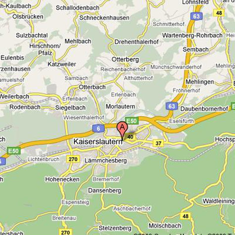 Kaiserslautern, Germany on Google Maps