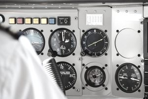 Gauges In Cockpit