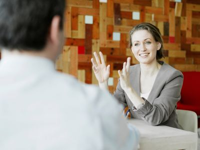 Business woman in an interview