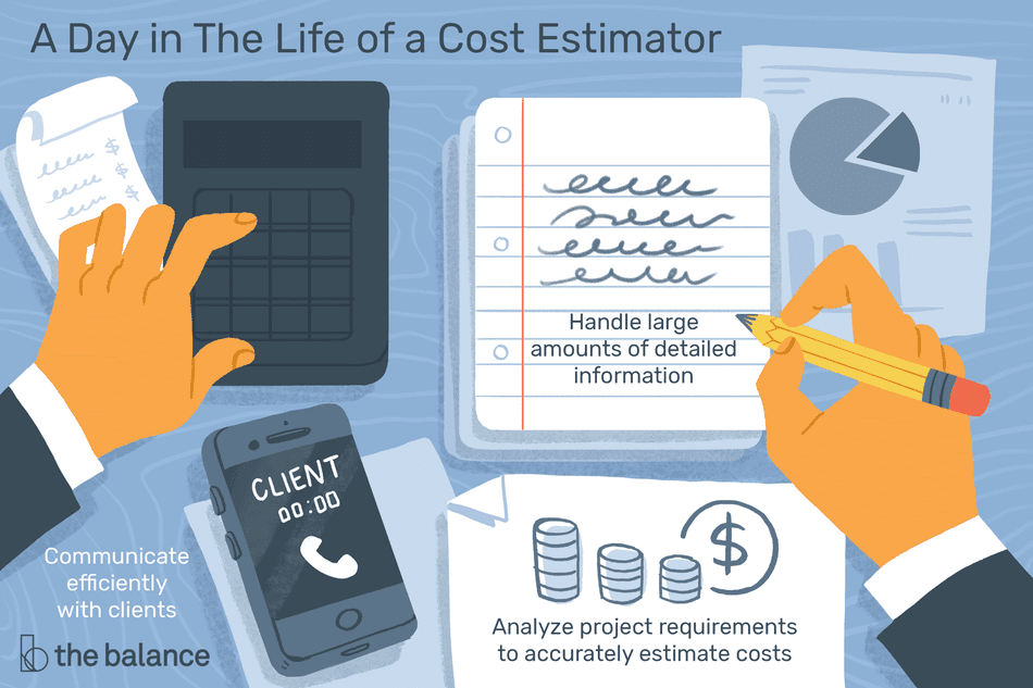 A day in the life of a cost estimator: Communicate efficiently with clients, handle large amounts of details information, analyze project requirements to accurately estimate costs