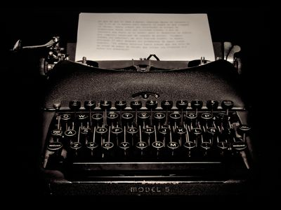 Typewriter and Job Applicant Rejection Letter