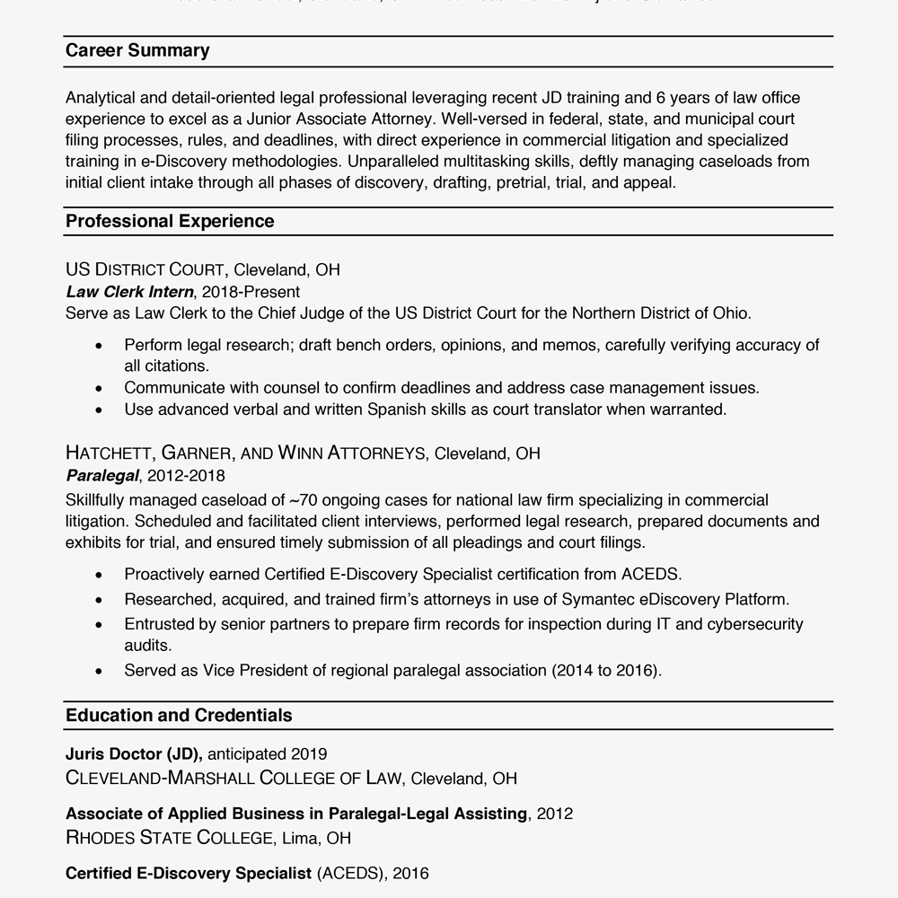 Business Resume Example 2019 25