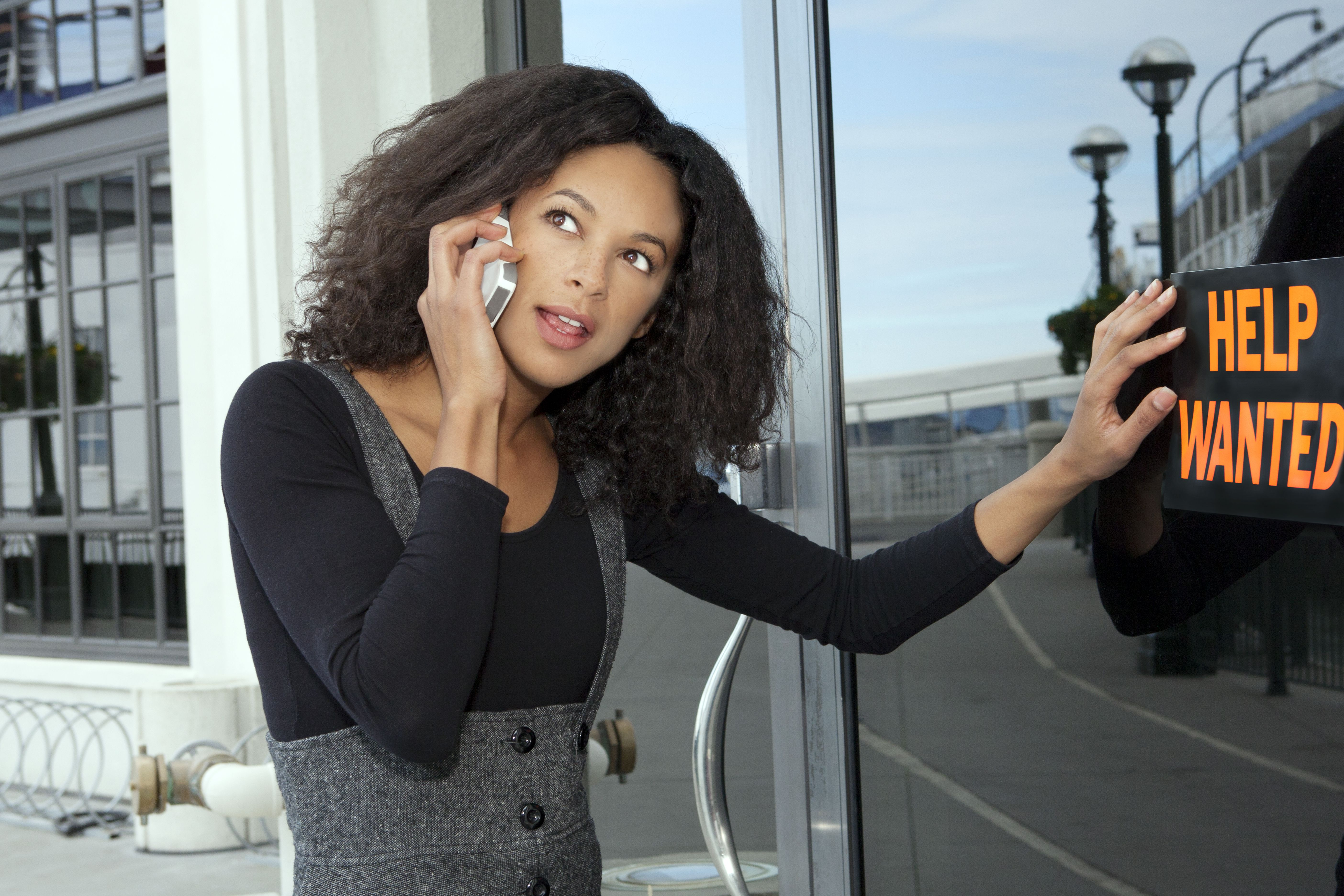 Young woman using a smartphone