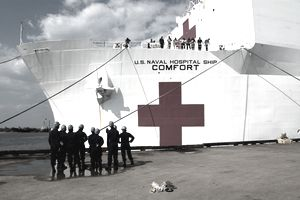 US Navy Hospital ship