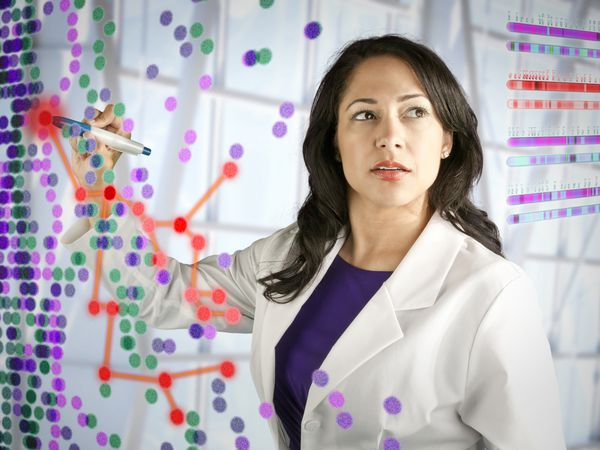 Scientist with Data