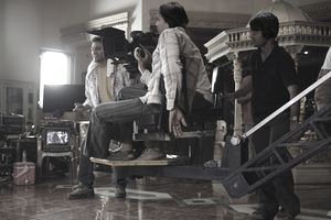Camera men on Bollywood film set