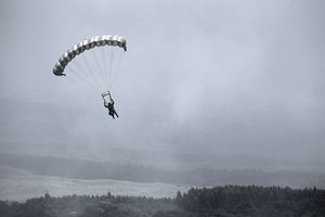 Paratrooper During Military Training
