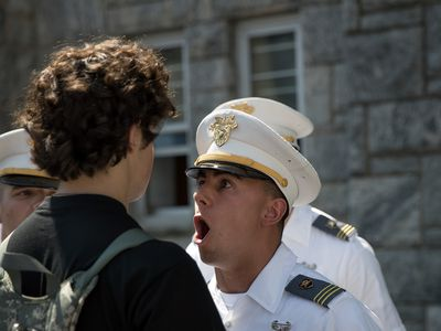 drill sergeant and recruit