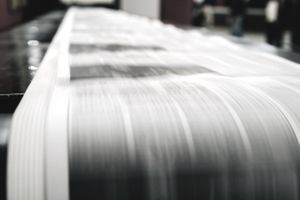 Newspaper being printed