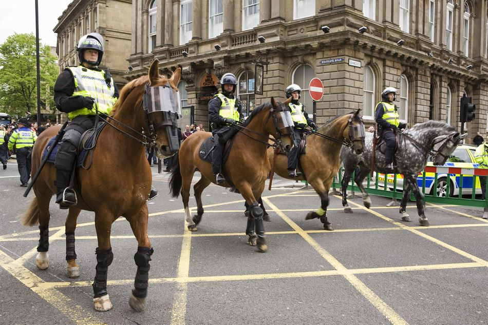 police riding on horses