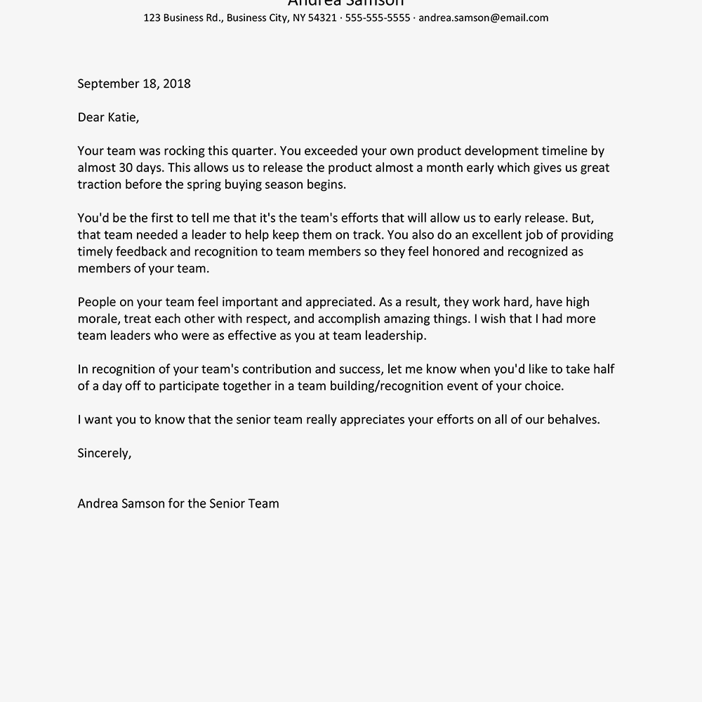appreciation letter to employee   Nadi.palmex.co