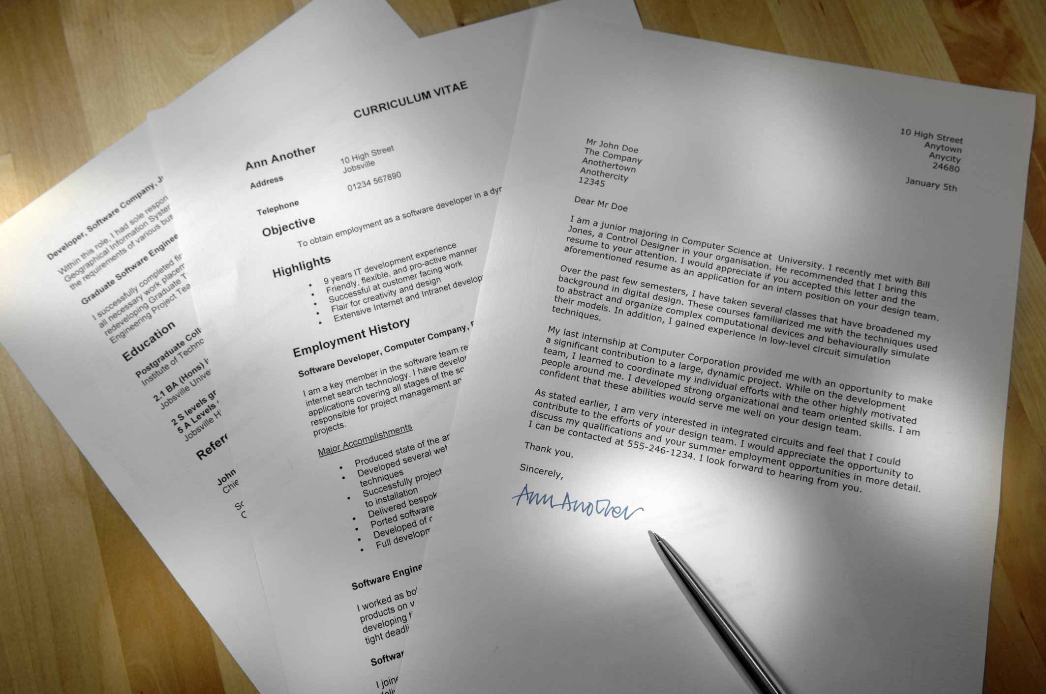 Sample Professional Letter Formats
