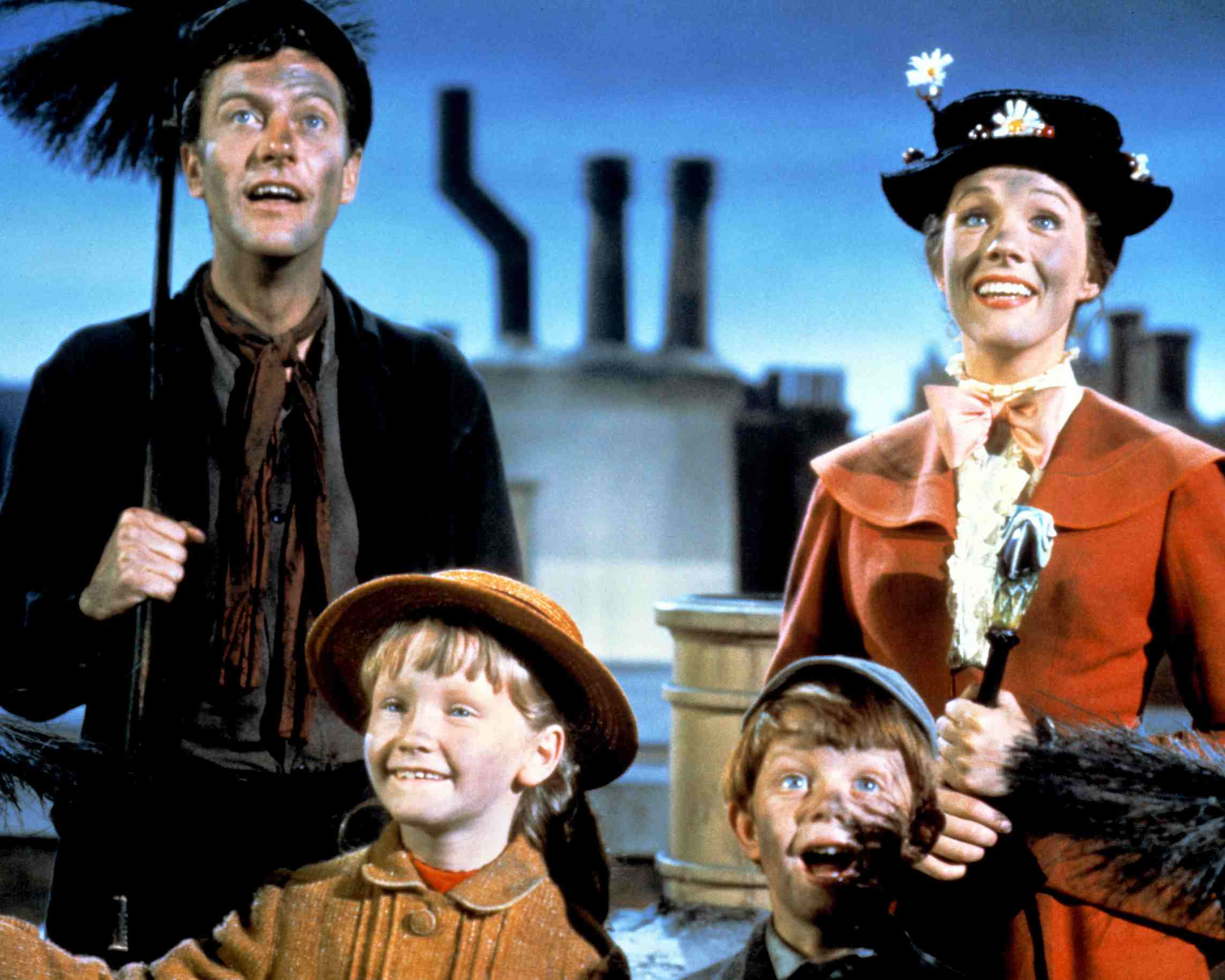 Mary Poppins, Dick Van Dyke and children