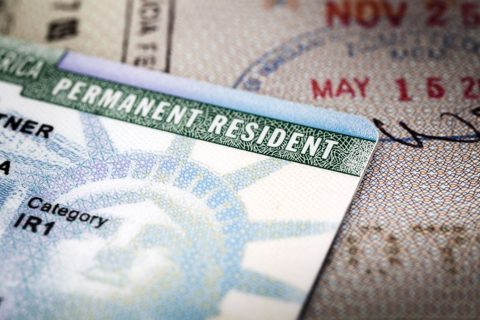 A United States green card