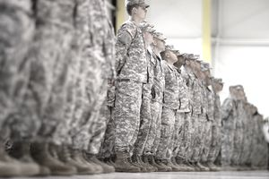 national guard in formation