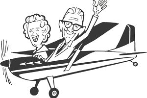 Couple in Airplane